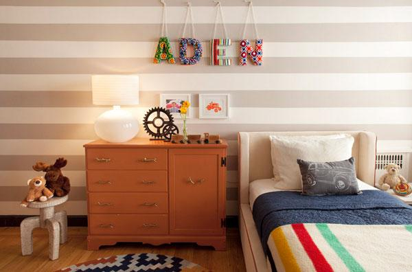 Typography Wall Art - personal name writing in a kids room