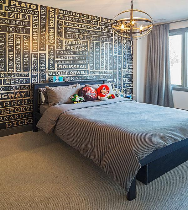 Typography Wall Art - stylish writing in a bedroom