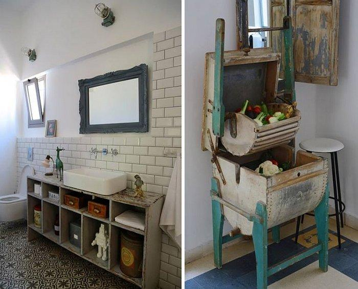 Vintage Interior Charm With Recycled Decor In A Home In
