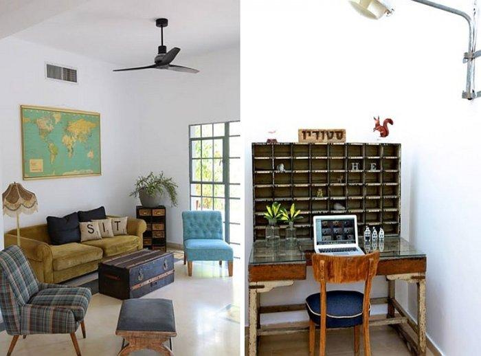 Vintage accents from the home interior - living room and home office