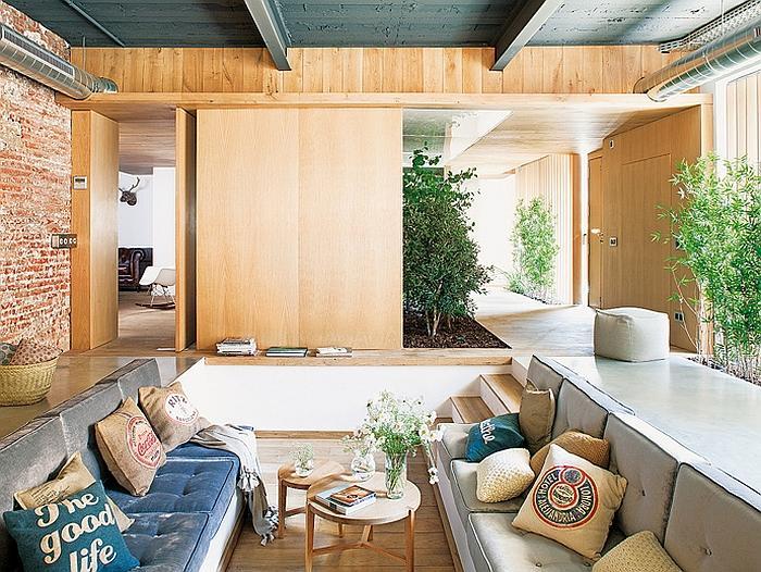 interior Design of Industrial Loft located in Barcelona