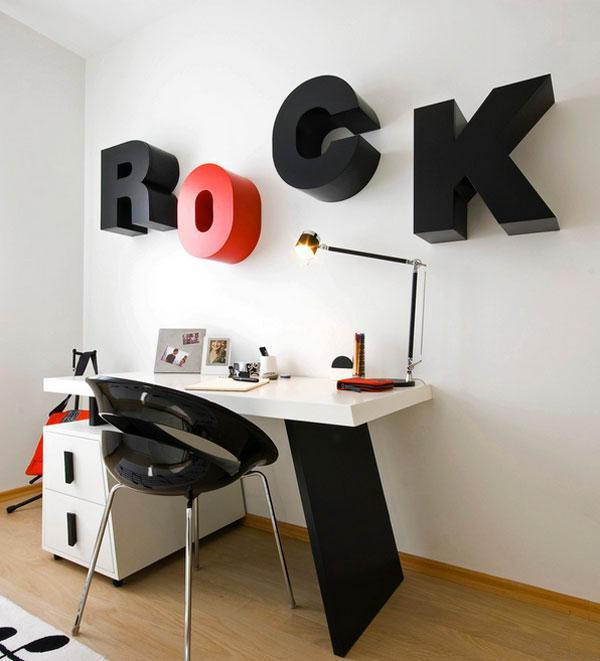 Interior Design and Decor Ideas with Typography Wall Art | Founterior
