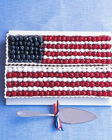 American Flag Tart with beautiful red and white stripes and blue stars