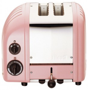 American pop-art toaster - Dualit 2-Slice Classic Bread Toaster, Petal Pink