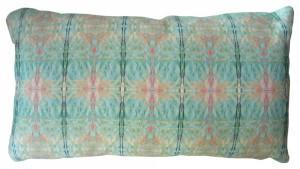 Decorative pillow with interesting fabric - Akimbo 9 Multicolor 14 x 24 Pillow