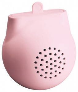 Decorative speaker for iPhone, iPod or mp3 player in Pink color