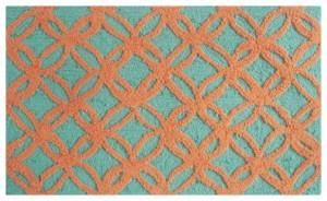 Decortive rug with creative patterns - Sparkles Orange Area