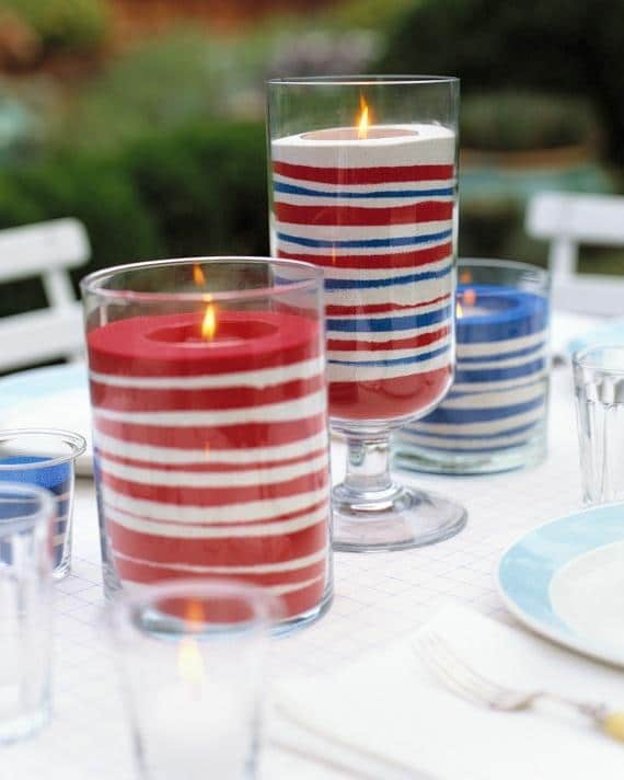 Easy Sand Candles for a cozy and welcoming 4th of July party