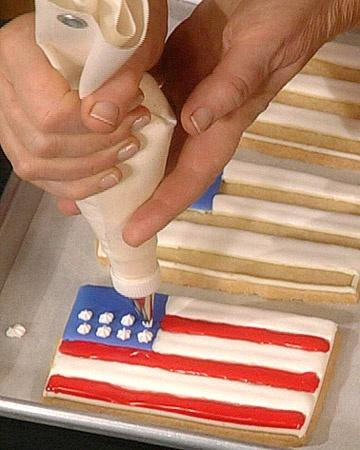 Flag Cookies are very delicious if they are home prepared for the holiday