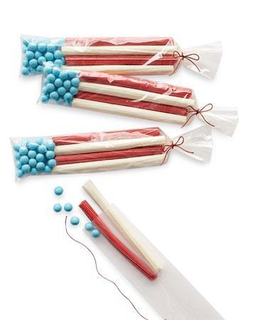 Flag Favors can be used as great holiday decoration on the table