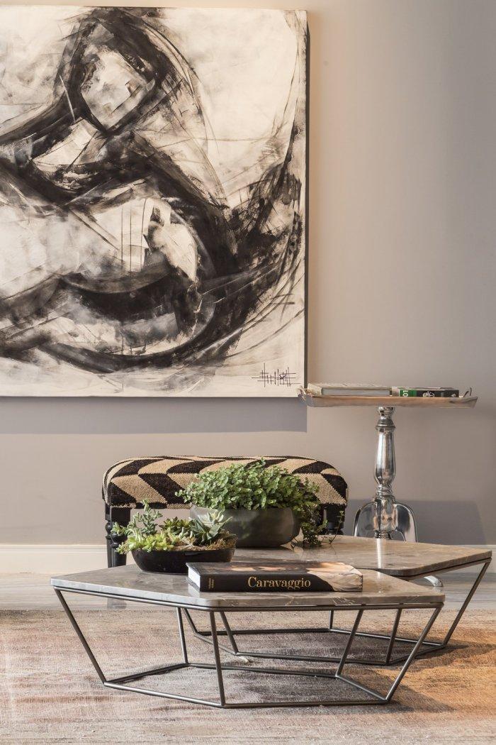 Artwork And Contemporary Interior Design In A Modern Loft