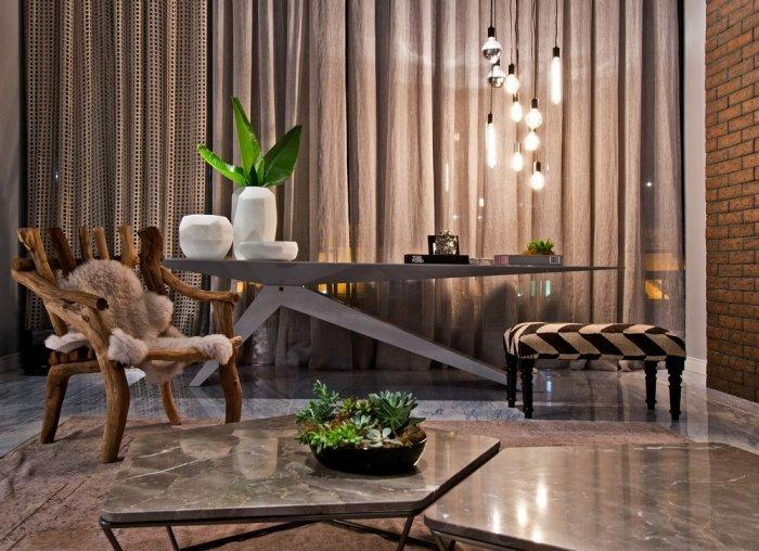 modern stylish furniture. modern stylish furniture and brick walls live togehter in a loft