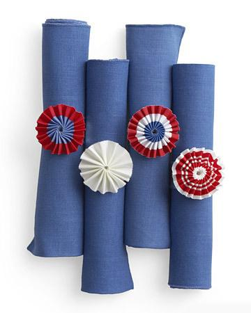 Patriotic Napkin Rings can be the right stylish element on the holiday table setting