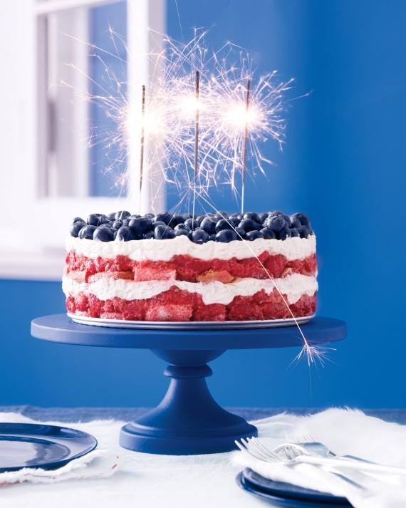 Red, White, and Blue Berry Trifle is perfect for loud celebration of Fourth of July