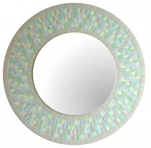 Round Mirror in Pastels tones for wall art decoration of the interior