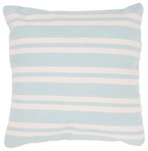 Sweet pale colored striped pillow - Handmade Cotton Blue Ivory White