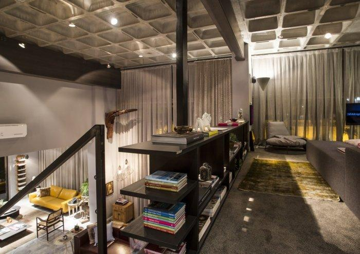 The second level of the modern loft and its contemporary interior design