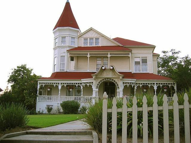 American Victorian house with nice porch
