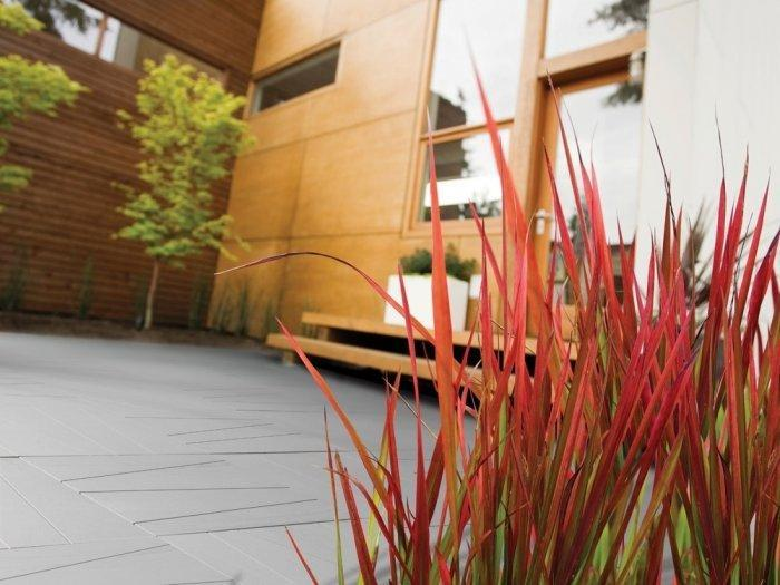 Contemporary accents in a small inner yard
