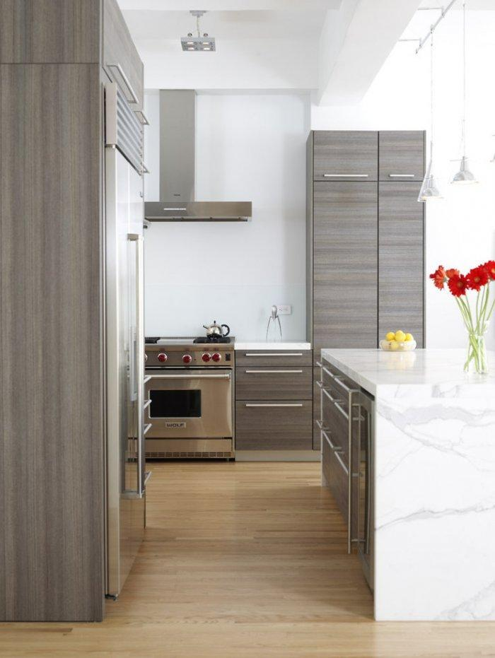 Contemporary kitchen in white with modern appliances