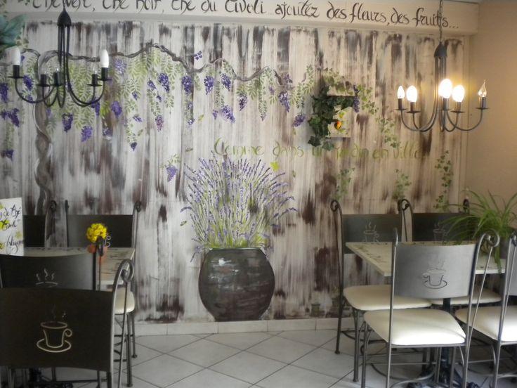 Creative Paris cafe with cozy interior design