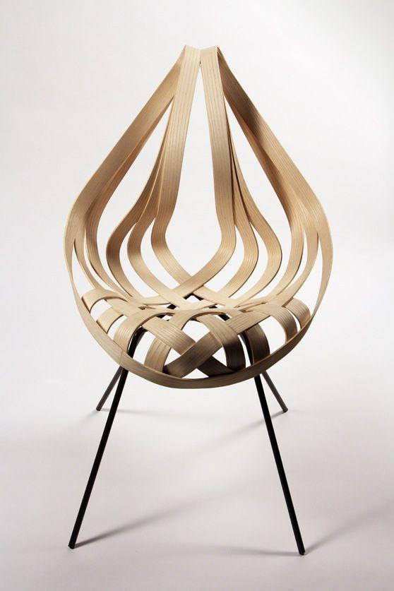 Creative chair design looking like a fire drop