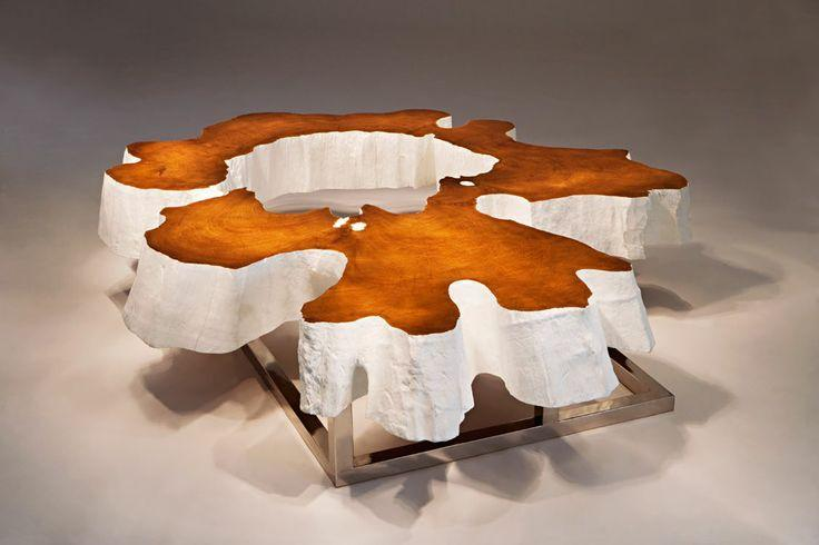 Creative coffee table made of wood