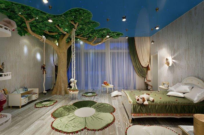 Creative kids' bedroom wonderland interior