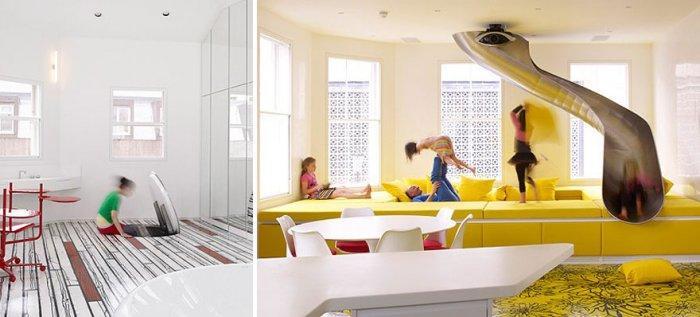 Creative Kidsu0027 Playroom With Slide Passage