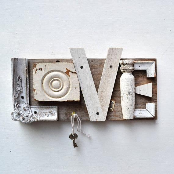 Creative love writing for a Shabby Chic look