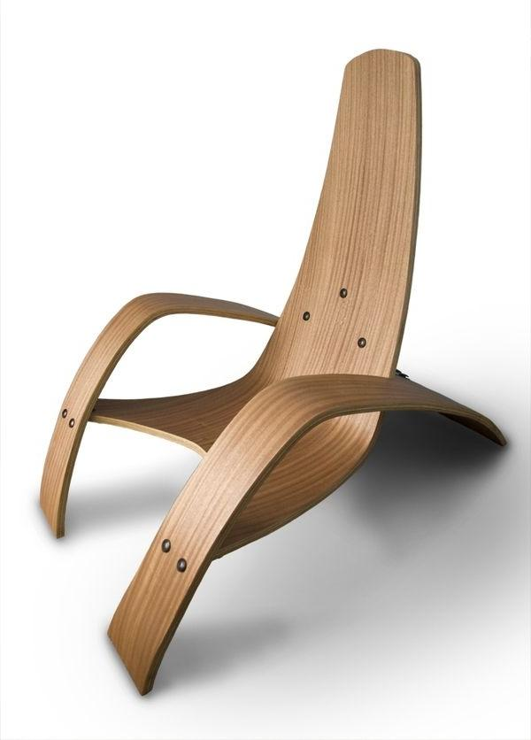 Creative wood armchair for relaxation