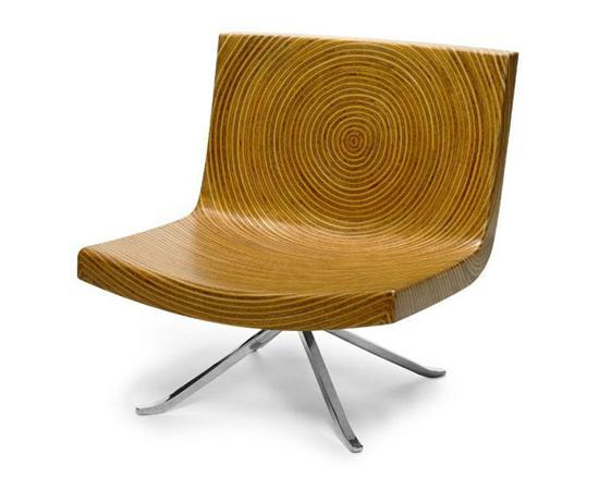 Creative wood chair with metal legs