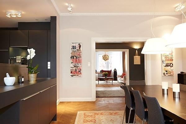 Eclectic interior of an open plan loft in Sweden