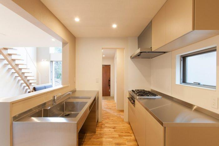 Elegant minimalist kitchen in Japanese style