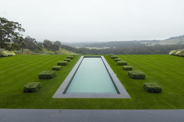 Minimalist trendy garden ideas with tiles and pools for Garden training pool