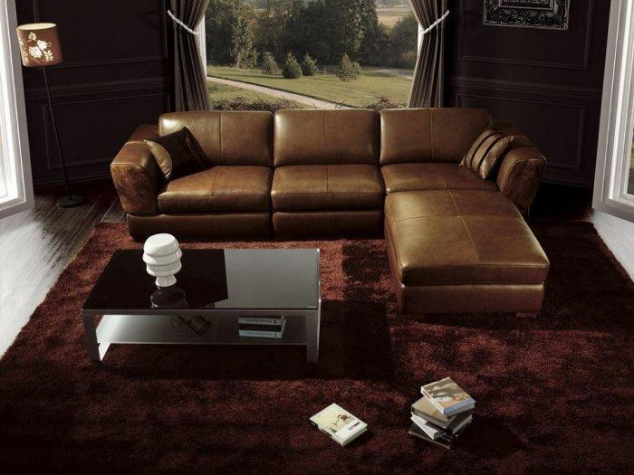 Elegant sectional sofa in a modern home