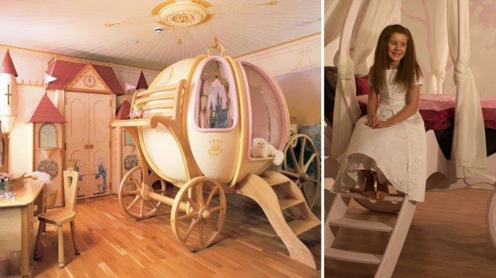 Girl bedroom interior with princess theme
