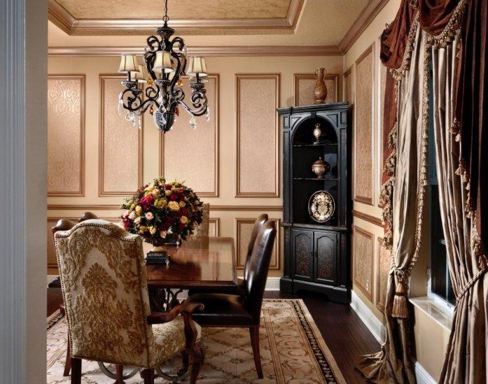 Gothic Victorian room with classic chandelier