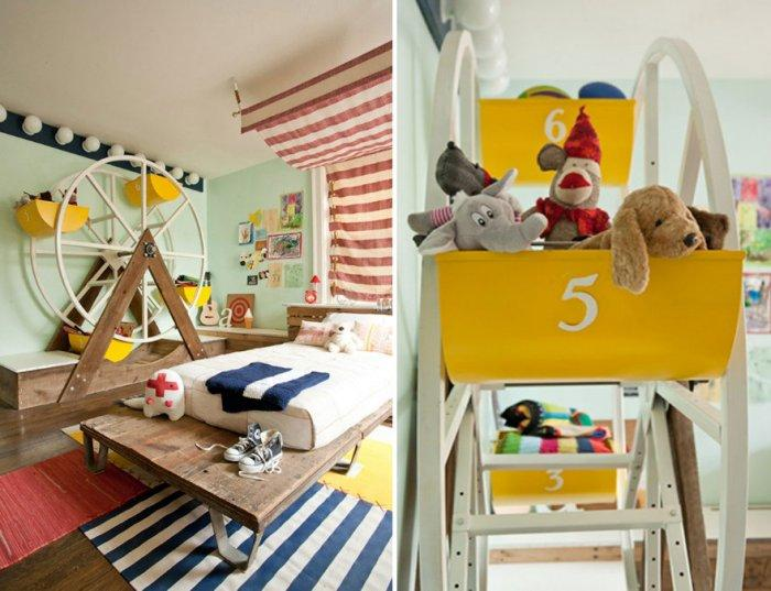 Kids' room interior with circus elements