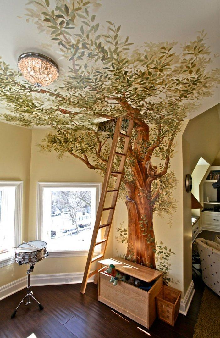 Kids' room with secret treehouse