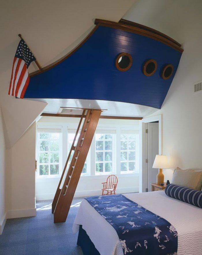 Kids' room with ship's front deck