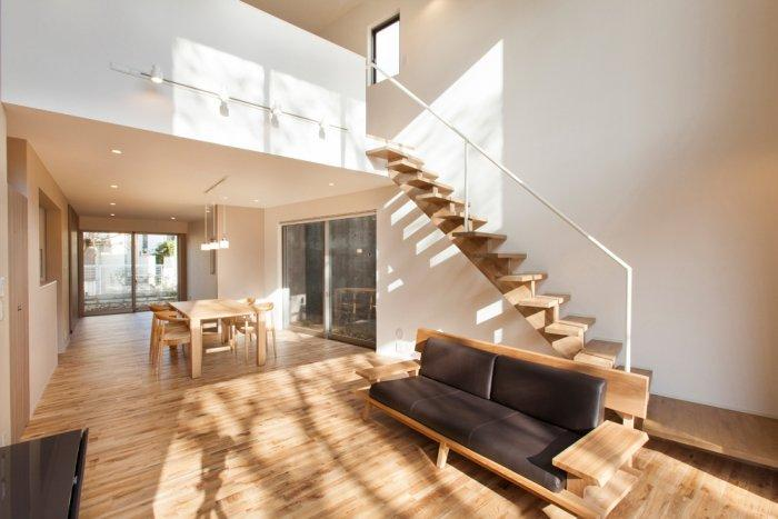Minimalist japanese small house architecture and interior for Living room ideas japan