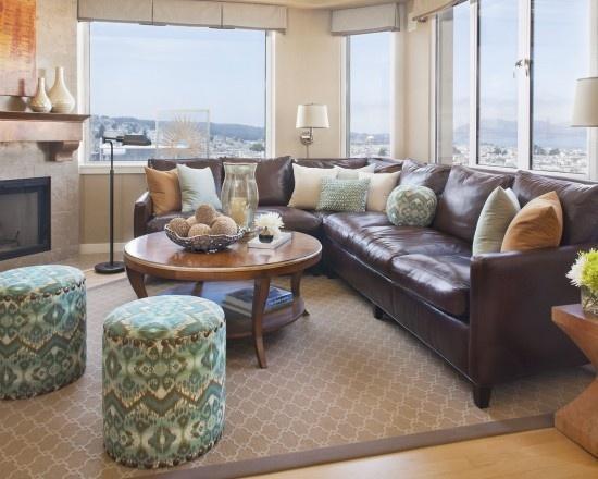 Luxurious corner sofa in a modern loft