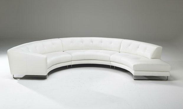 Luxurious corner sofa in white color