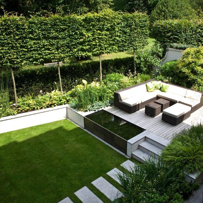 Minimalist trendy garden ideas with tiles and pools founterior - Gardening for small spaces minimalist ...