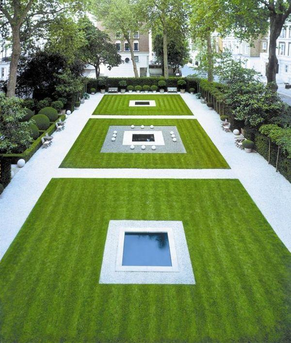 Minimalist trendy garden ideas with tiles and pools founterior - Garden small space minimalist ...