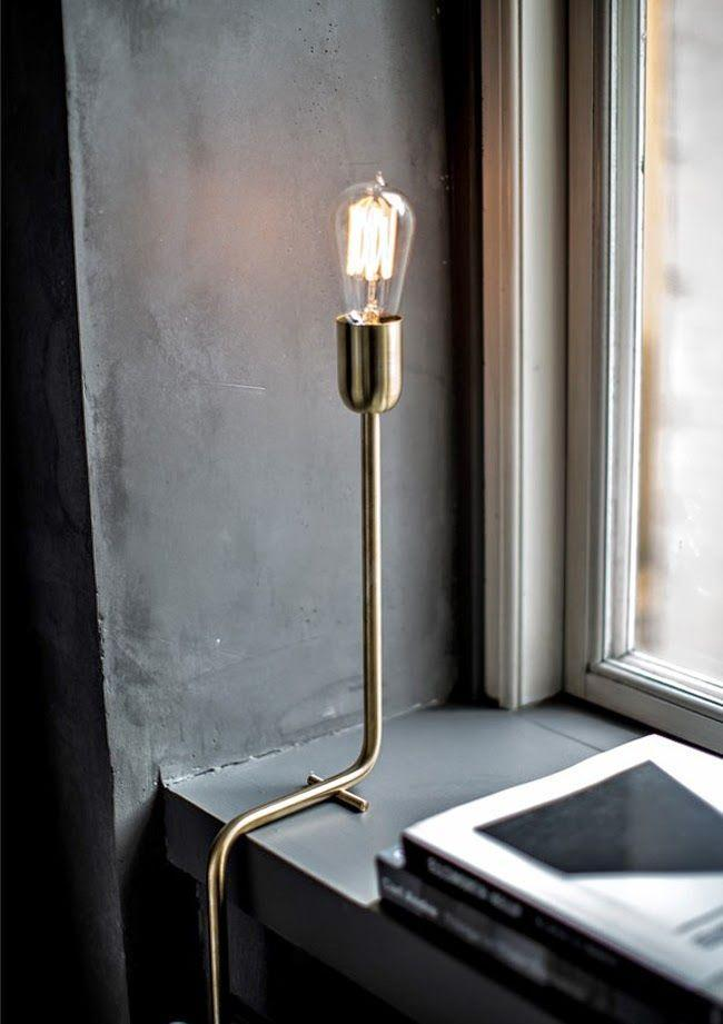 Modern lamp inside a modern industrial home