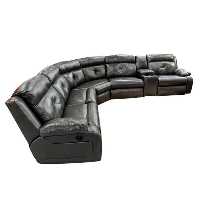 Modern sectional sofa made of elegant leather