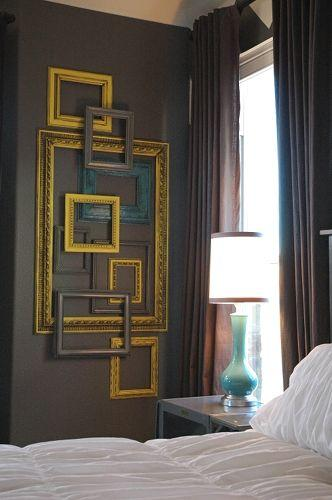 Painting frames used as wall decorations