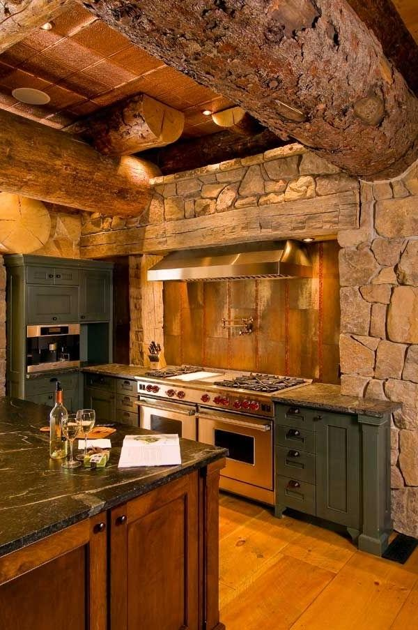 Kitchens In Log Homes